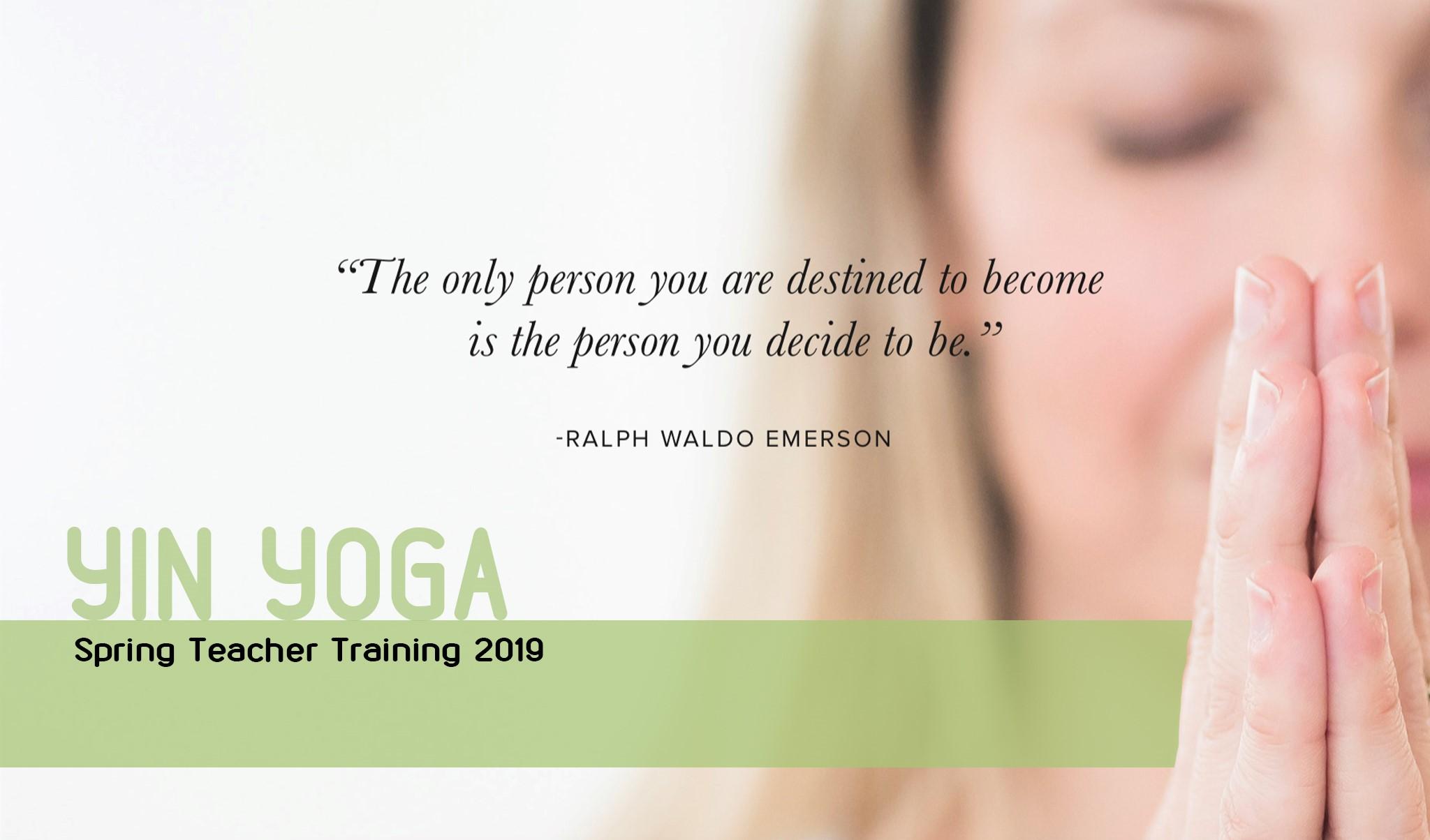 Yin Yoga Courser - Spring 2018 at d'Pilates
